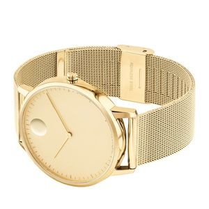Movado Face Gold Watch